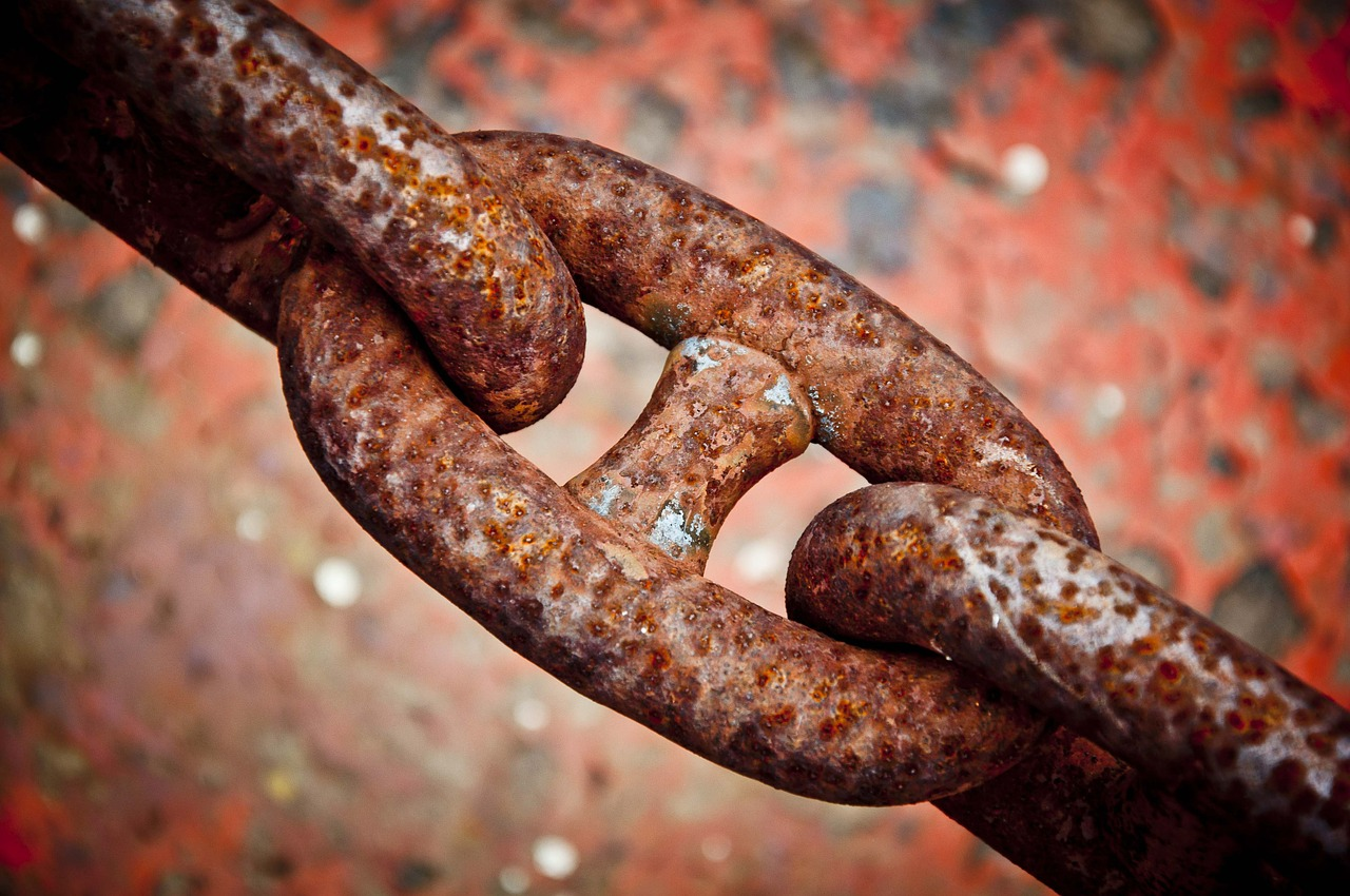 chain, rust, iron